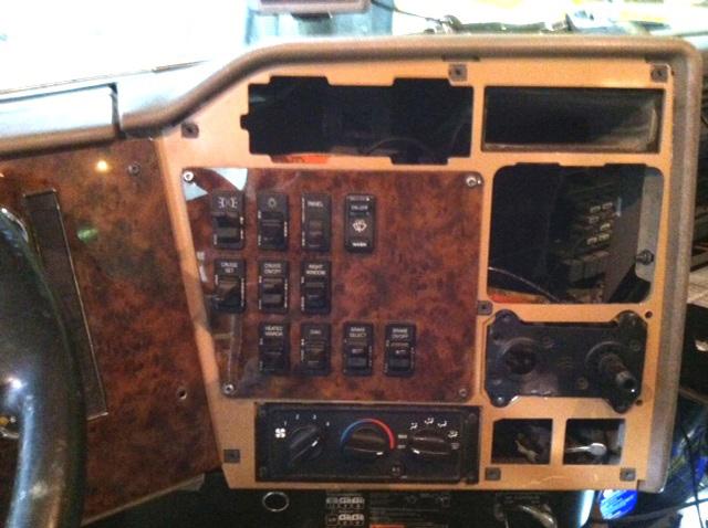 Semi Truck Control Panel : International paystar semi dash panel replacements